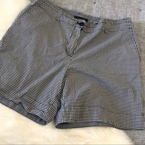 Talbots black & white gingham Bermuda shorts sz.12
